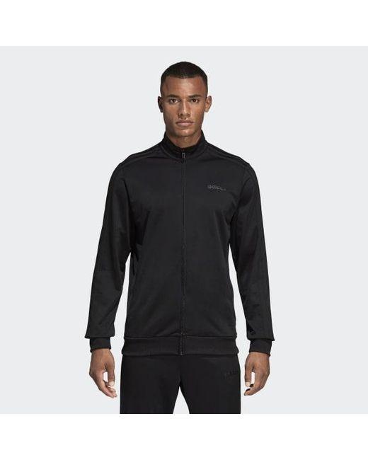 85c085276b738 Adidas - Black Essentials 3-stripes Tricot Track Jacket for Men - Lyst ...