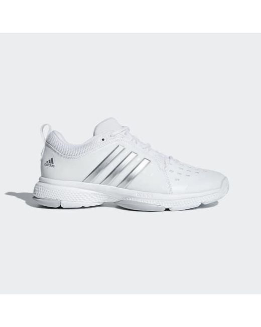 31180409d Adidas - White Barricade Classic Bounce Shoes - Lyst ...