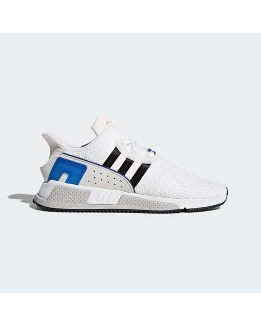 watch 96d12 c8c3c Adidas - White Eqt Cushion Adv Shoes for Men - Lyst ...