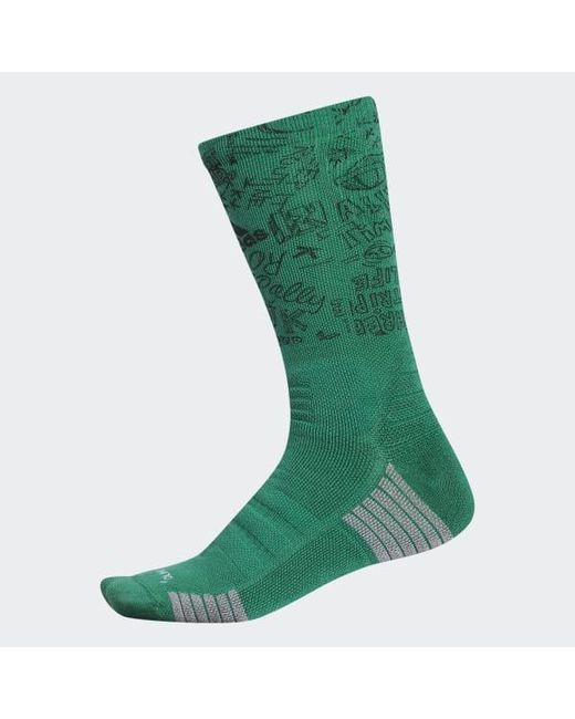 0fc88798f59 Adidas - Green X Routine Crew Sock for Men - Lyst ...