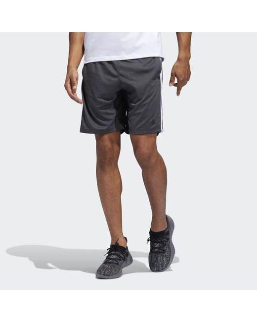 c7eafe0c78 Adidas - Black 4krft Sport Heather 3-stripes Shorts for Men - Lyst ...