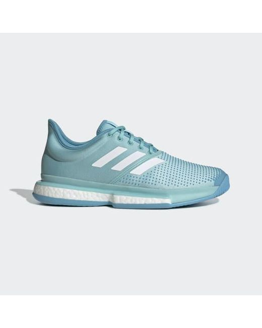 sale retailer ef988 c8a1d Adidas - Blue Solecourt Boost Parley Shoes for Men - Lyst ...