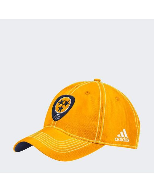 Adidas - Yellow Predators Adjustable Slouch Dobby Hat for Men - Lyst ... 4e3b40060b24