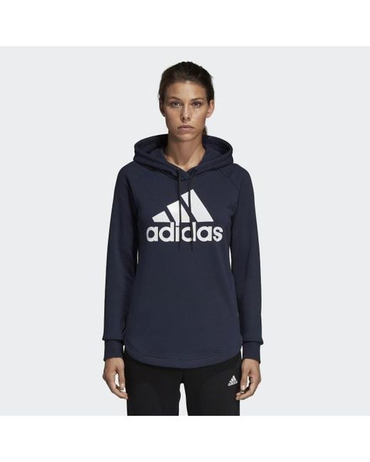 best deals on 57587 d504c Adidas - Blue Must Haves Badge Of Sport Hoodie - Lyst ...