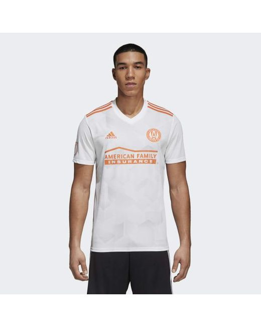 a3833bef56a Adidas - White Atlanta United Fc Away Jersey for Men - Lyst ...