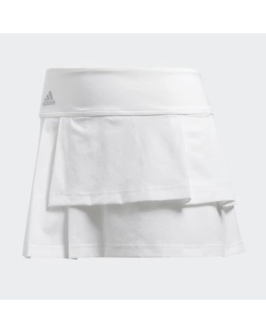 91189c3eb7 ... Adidas - White Advantage Layered Skort - Lyst ...