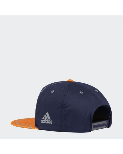 ... Adidas - Blue Oilers Flat Brim Hat for Men - Lyst 66e1e4c10181