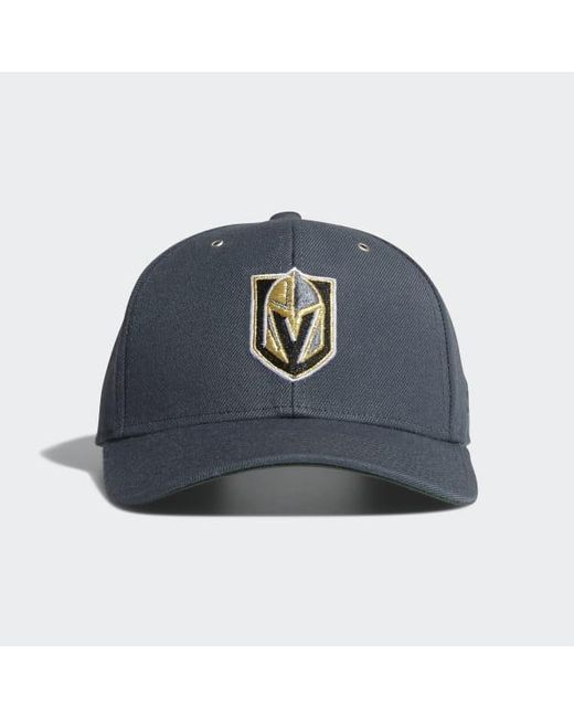 info for 03d37 56f6b Adidas - Blue Golden Knights Adjustable Leather Strap Hat for Men - Lyst ...