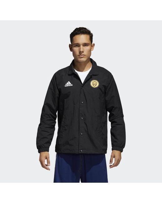 Adidas - Black Orlando City Tango Coach Jacket for Men - Lyst