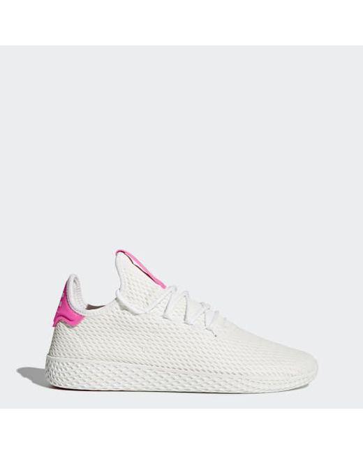 d37ba1da7e594 Adidas - White Pharrell Williams Tennis Hu Shoes - Lyst ...
