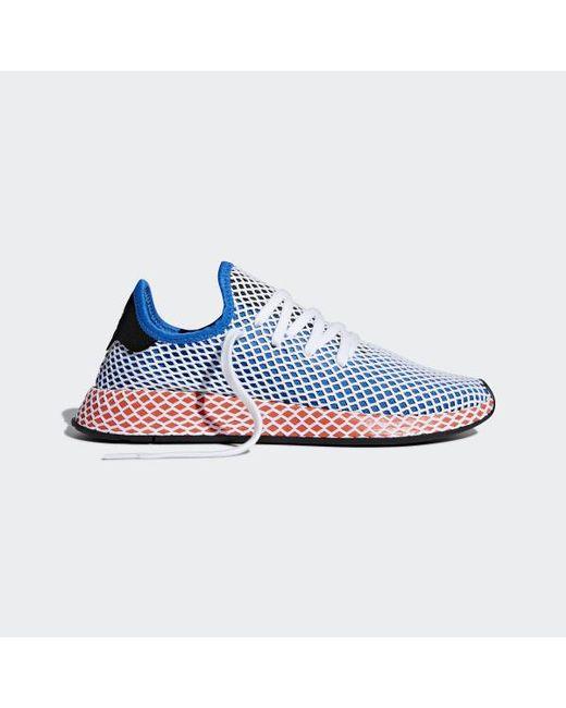 quality design 6cc8e 69465 ... Adidas - Blue Deerupt Runner Shoes - Lyst ...
