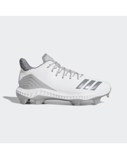 new style b603b ea712 Adidas - White Icon Bounce Tpu Cleats for Men - Lyst ...