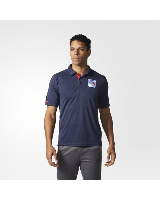 Adidas - Blue Rangers Pro Locker Room Polo Shirt for Men - Lyst