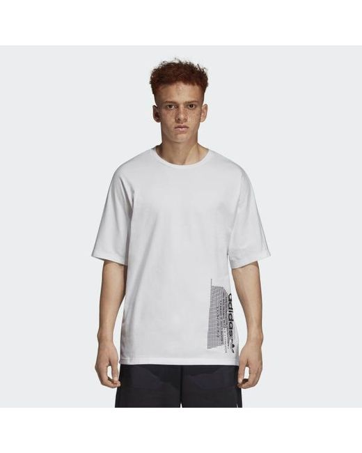 9603a16e Adidas - White Nmd Tee for Men - Lyst ...
