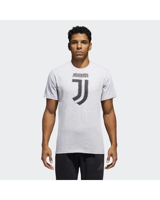 Adidas - Gray Juventus Brushed Stripes Tee for Men - Lyst