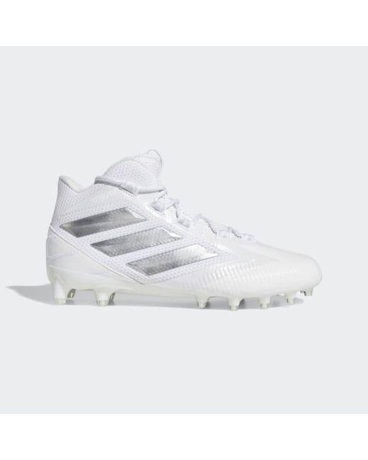 ba2885276 Adidas - White Freak Carbon Mid Cleats for Men - Lyst ...
