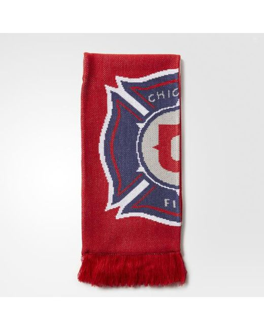 Adidas - Red Chicago Fire Jacquard Scarf for Men - Lyst