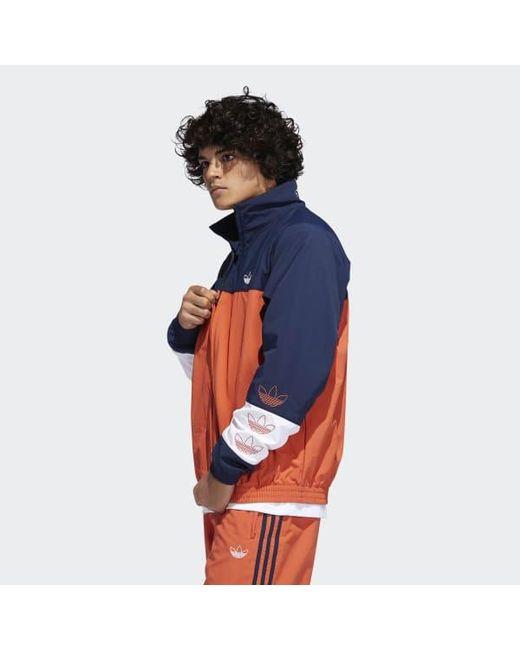 differently 475fc c44e8 ... Adidas - Orange Tourney Warm-up Jacket for Men - Lyst ...