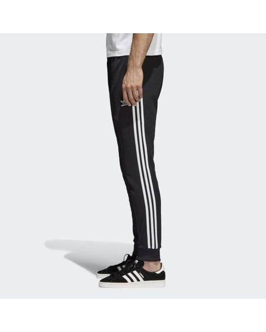e98b212a6 ... Adidas - Black Sst Tracksuit Bottoms for Men - Lyst ...