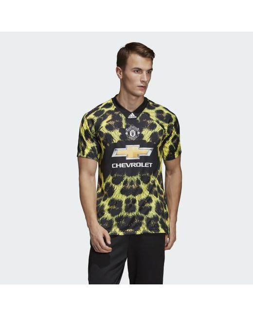 af3d03af304 Adidas - Yellow Manchester United Ea Sports Jersey for Men - Lyst ...