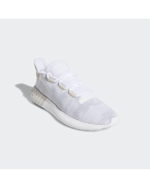 a8e6e70cb28a ... Adidas - White Tubular Dusk Shoes for Men - Lyst ...