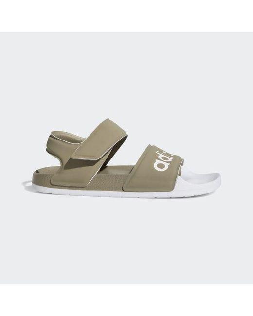 3ffbac5b93ee3 Adidas - Gray Adilette Sandals for Men - Lyst ...