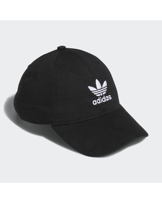 dfac3681 ... Adidas - Black Originals Relaxed Strap-back Hat for Men - Lyst ...