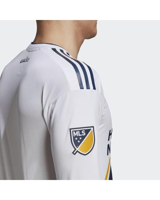3dbd574c72a ... Adidas - White La Galaxy Home Authentic Jersey for Men - Lyst