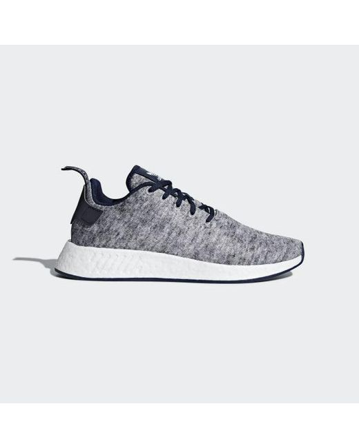 06663abadecb0 Adidas - Gray Ua sons Nmd R2 Shoes for Men - Lyst ...