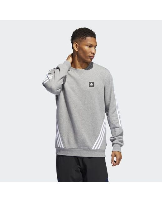 2e4b61079827 Adidas - Gray Insley Crewneck Sweatshirt for Men - Lyst ...