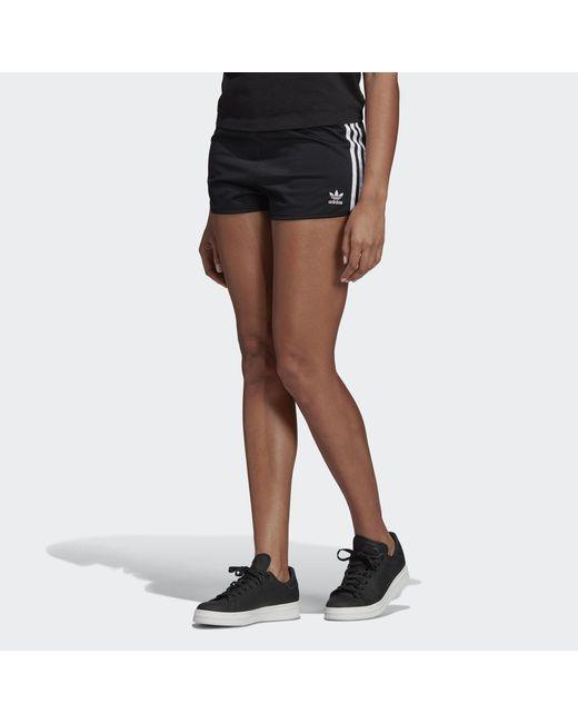 Adidas - Black Pantalón corto 3 bandas - Lyst