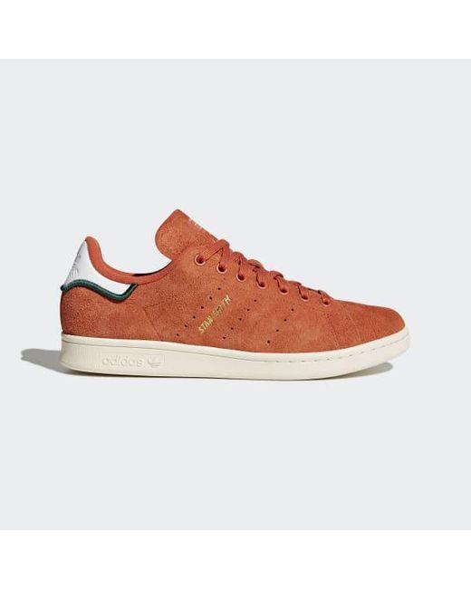 buy popular f0b83 af097 Adidas - Orange Stan Smith Shoes for Men - Lyst ...