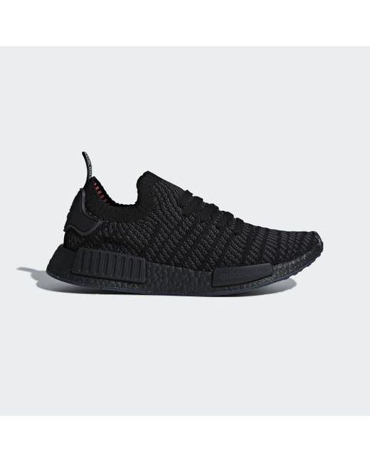 c6b9cf370 Adidas - Black Nmd r1 Stlt Primeknit Shoes - Lyst ...