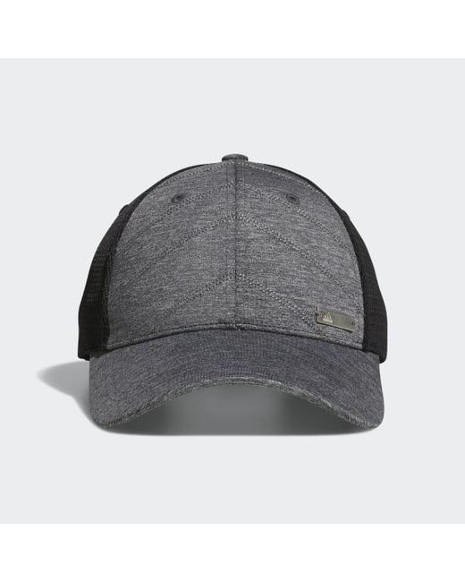 160b07967e1 Adidas - Gray Quilted Mesh-back Hat for Men - Lyst ...