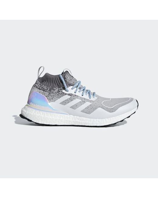 hot sales c213b 715b1 Adidas - Gray Ultraboost Mid Shoes for Men - Lyst ...