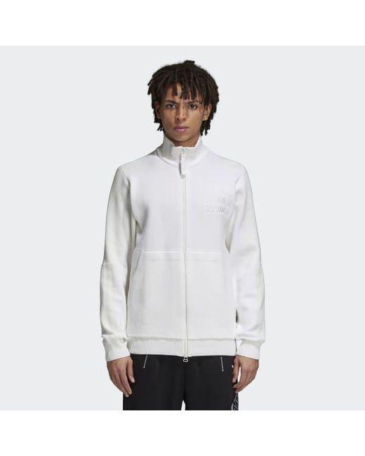 9638fc1140 Adidas - White Pharrell Williams Hu Holi Track Jacket for Men - Lyst ...