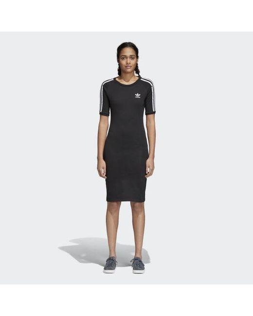 bc8ea43daed Adidas - Black 3-stripes Dress - Lyst ...