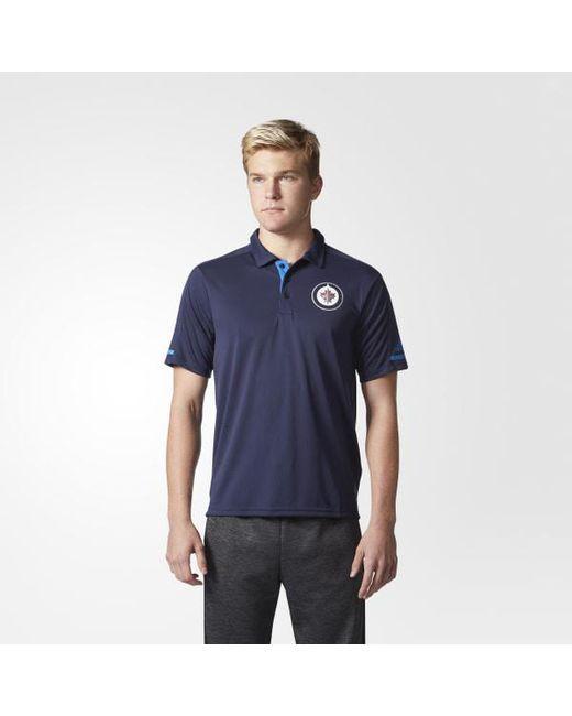Adidas - Blue Jets Pro Locker Room Polo Shirt for Men - Lyst