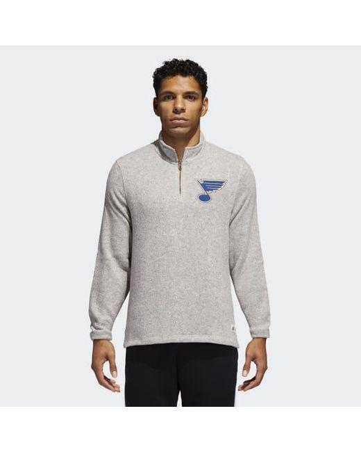 c565ec33a852 Adidas - Gray Blues Sweatshirt for Men - Lyst ...
