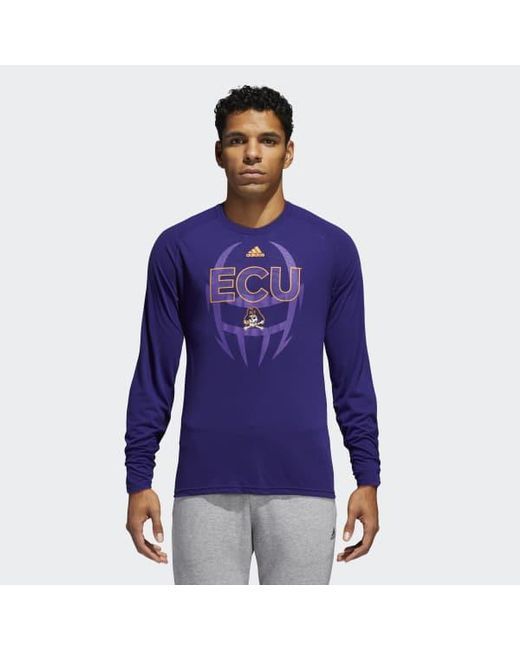 Adidas - Blue East Carolina Long Sleeve Tee for Men - Lyst