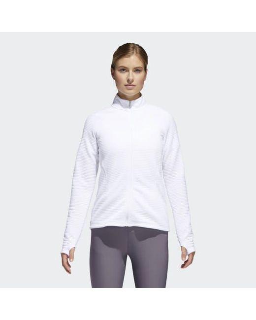 Adidas - White Essentials 3-stripes Layering Jacket - Lyst