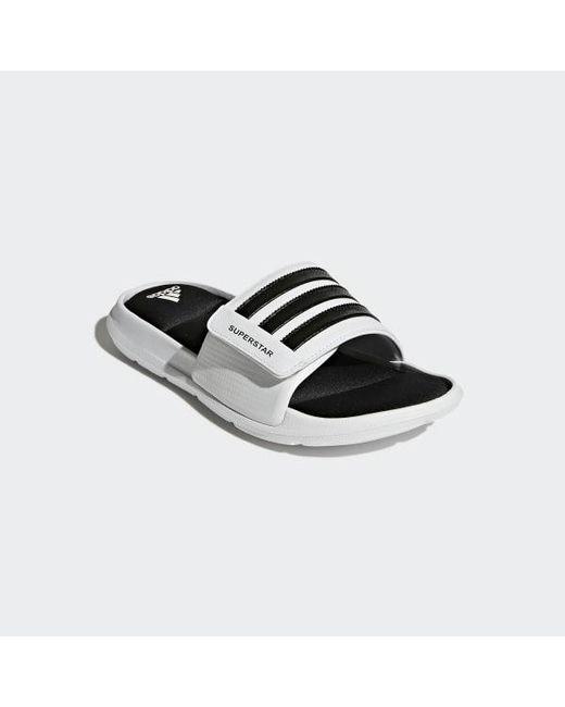 d38ec8ba6b094 ... Adidas - White Superstar 5g Slides for Men - Lyst ...