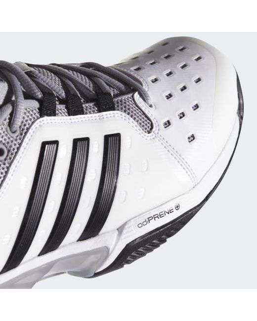 568501909 ... Adidas - White Barricade Classic Wide 4e Shoes for Men - Lyst ...