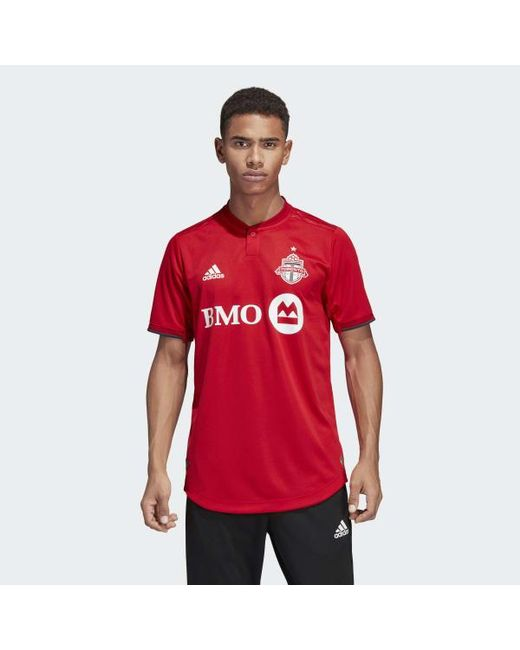 new arrival 0c14c a6672 Men's Red Toronto Fc Away Authentic Jersey