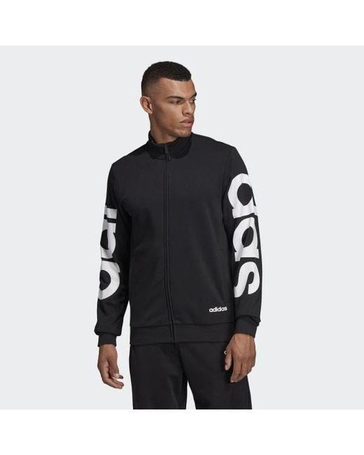 320464bcfda0 Adidas - Black Essentials Track Jacket for Men - Lyst ...