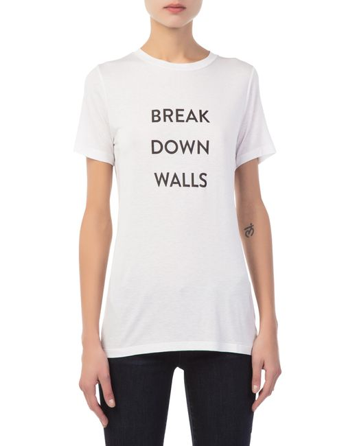 Prabal Gurung - White Women's Break Down Walls T-shirt - Lyst