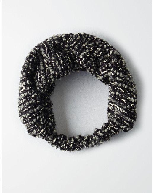 American Eagle - Black Boucle Headband - Lyst