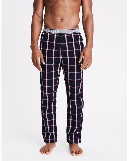 American Eagle - Blue Ae Woven Lounge Pant for Men - Lyst