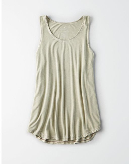 American Eagle - Green Ae Favorite Scoop Neck Tank Top - Lyst