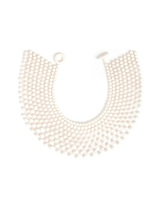 Natori | White Josie Bone Small Beaded Necklace | Lyst
